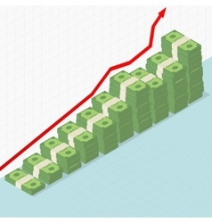 Rising graph and money vector