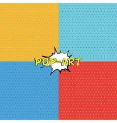 Seamless texture in pop-art style vector image