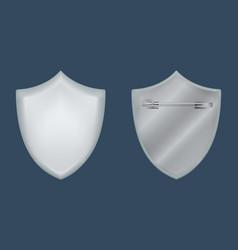 shield badge mockup realistic style vector image