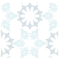 Snowflakes seamless background pattern vector image