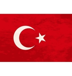 True proportions Turkey flag with texture vector image vector image