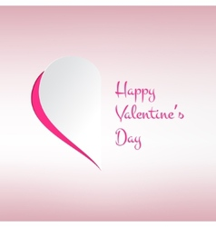 Valentines card with stylish half heart on light vector image