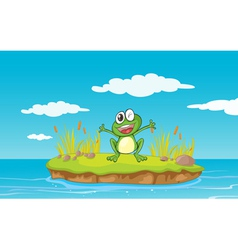 Yawning Cartoon Frog vector image vector image