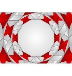 Abstract red grey corporate round pattern vector