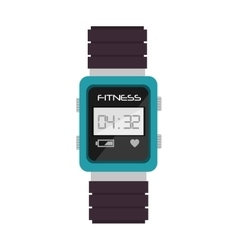 Smart watch cardio fitness vector