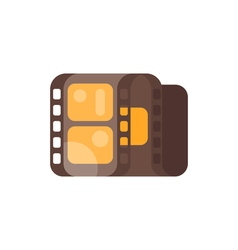 Flat style of vintage old cinema clip isolated on vector