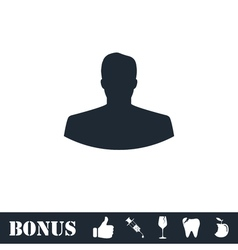 Avatar icon flat vector image