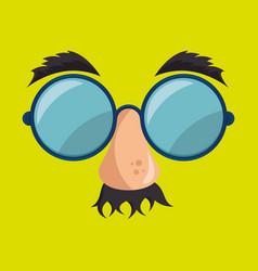 idiot mask crazy icon vector image