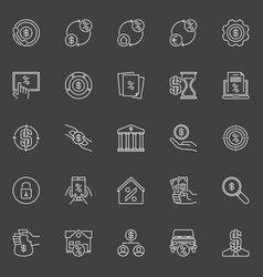 Loan and leasing icons vector