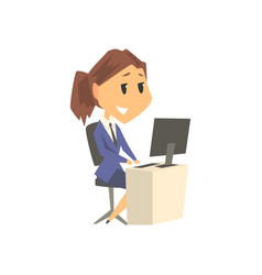 Smiling businesswoman character in formal wear vector