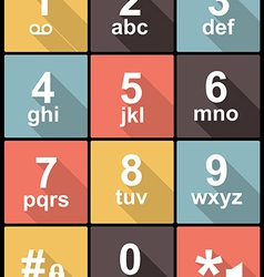 Phone keypad in flat design for web and mobile vector