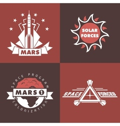 Set of space badges and labels vector image