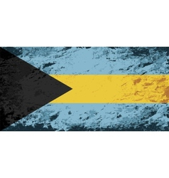 Bahamas flag grunge background vector