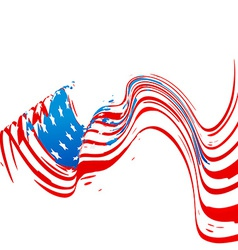 Wave style american flag design vector