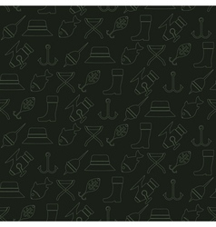 Seamless background with fishing attributes vector