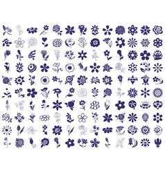 Flower icons on a white vector