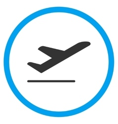 Airplane departure rounded icon vector