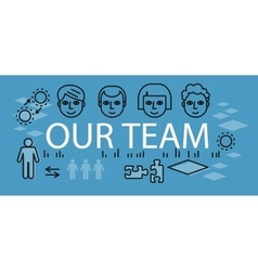 Our success team linear design vector
