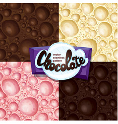 aerated chocolate set vector image vector image