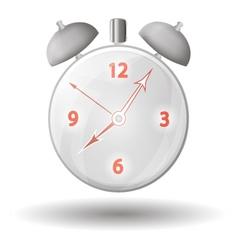 Alarm clock with red arrows vector