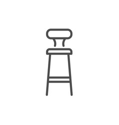 bar stool line icon vector image