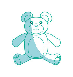 Bear toy cartoon vector