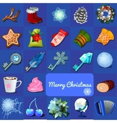 Big christmas set of objects 23 icons vector image vector image