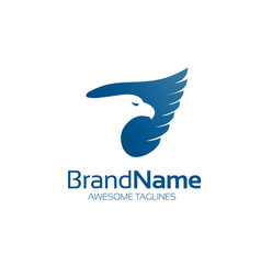 blue eagle hawk logo bird logo vector image vector image
