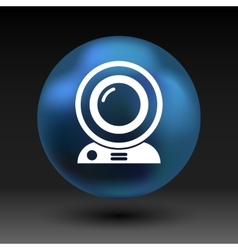 Camera video icon web insight cam chat vector
