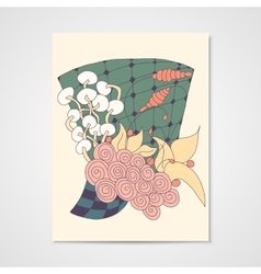 Card with abstract floral pattern vector