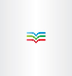 colorful book logo icon element vector image vector image