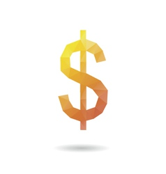 Dollar sign abstract vector image