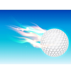 Flaming Golf Ball vector image vector image