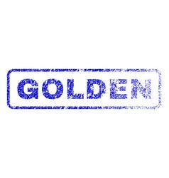 Golden rubber stamp vector