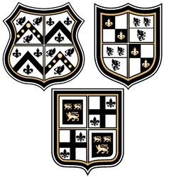 Heraldic royal emblem badge vector