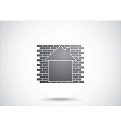 House abstract real estate vector image