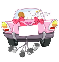 Just married car vector