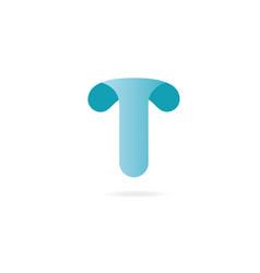 letter j logo design template elements curved vector image