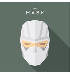 Mask flat Hero Villain superhero style icon vector image vector image