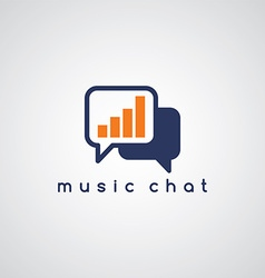 music equalizer chat theme vector image