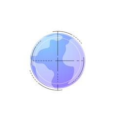 neon globe line icon vector image vector image