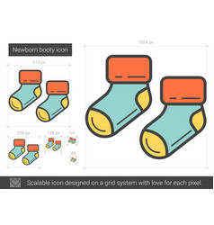 Newborn booty line icon vector