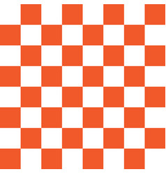 orange and white checker pattern vector image