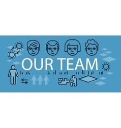 Our success team linear design vector