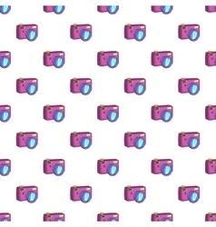 Photo camera pattern cartoon style vector