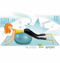 Pilates fitness icon vector image vector image