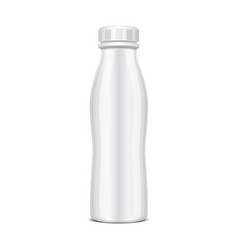 plastic bottle with screw cap for dairy products vector image vector image