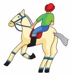 Racehorse vector