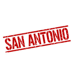 San antonio red square stamp vector