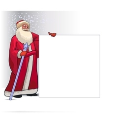 Santa claus cartoon character for christmas vector